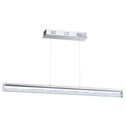 Chrome Cardito-1 6 Light LED 39.375in. Long Pendant with Clear Glass Diffuser