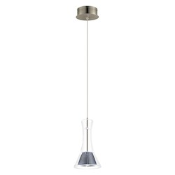 1X4.4W Led Mini Pendant W/ Matte Nickel Finish & Clear Glass