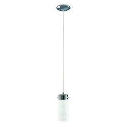 Black / Chrome Olvero Single Light LED 4.875in. Wide Pendant with Clear Glass Shade