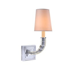 1 Light Wall Sconce Light Fixture with Polished Nickel Finish