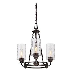Old English Bronze Gramercy Park 3 Light 1 Tier Chandelier