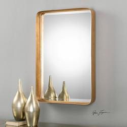 Antiqued Gold Leaf Crofton Rectangular Mirror Designed by Grace Feyock
