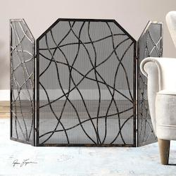 Distressed Mocha Dorigrass Fire Screen Designed By Grace Feyock