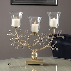 Gold Leaf Bede Candle Holders Designed By Billy Moon