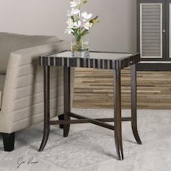 Dark Walnut Karisa Accent Table Designed By Jim Parsons