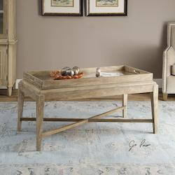 Weathered Wood Marek Coffee Table Designed By Jim Parsons