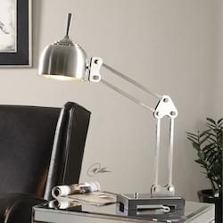 Uttermost Amado Brushed Nickel Desk Lamp