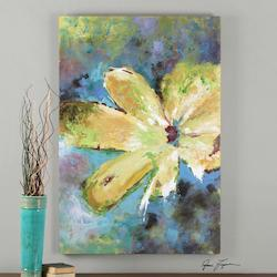 Multi-Colored Blossom In Yellow Canvas Art Designed By Grace Feyock