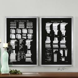 Chrome Architectural Elements Print Designed By Grace Feyock