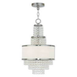 Brushed Nickel Prescott 3 Light 1 Tier Chandelier