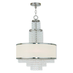 Brushed Nickel Prescott 5 Light 1 Tier Chandelier