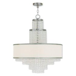 Brushed Nickel Prescott 6 Light 1 Tier Chandelier