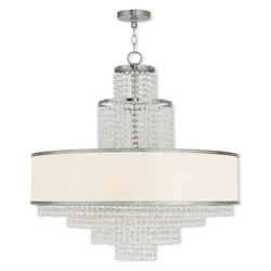 Brushed Nickel Prescott 8 Light 1 Tier Chandelier
