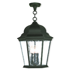 Textured Black Hamilton 3 Light Outdoor Pendant