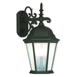 Textured Black Hamilton 3 Light Outdoor Wall Sconce