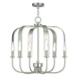 Brushed Nickel Addison 7 Light 1 Tier Chandelier