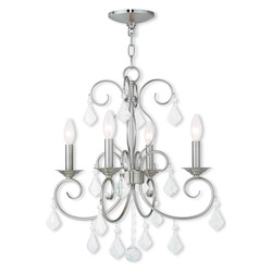 Brushed Nickel Donatella 4 Light 1 Tier Chandelier