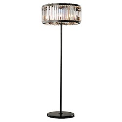 Welles 10 Light Crystal Clear Round Chandelier Light Fixture in Java Brown Finish  - Restoration Revolution 700144-001