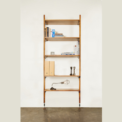 Hard Fumed Oak Theo Shelving Unit - 380049