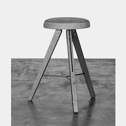 Brown Hard Fumed Oak Theo Counter Stool - 380055