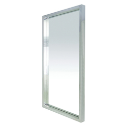 Silver Wide Floor Glam Mirror - 380174