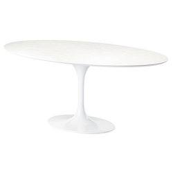 White Oval Echo Dining Table