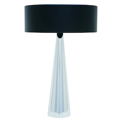 Black Chrome Kasa Table Lamp