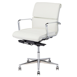 White Armchair - Leather Lucia Office Chair - 380438