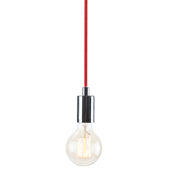 Chrome Red Tucker Pendant Lamp - 380615
