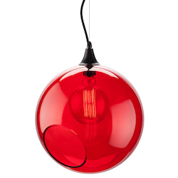 Red Large Sphere Pendant Lamp - 380664