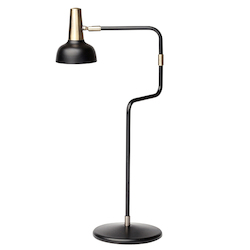 Black Antique Brass Emmett Table Lamp