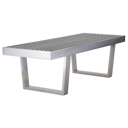 Silver Zoey Bench