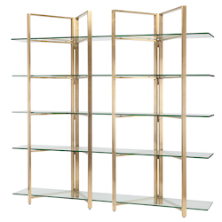 Clear|Gold Elton Shelving Unit - 380967