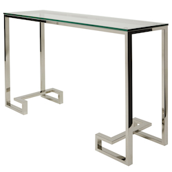 Stainless Rectangular Tessa Console - 381015