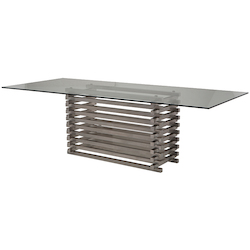 Clear Stacked Dining Table - 381102