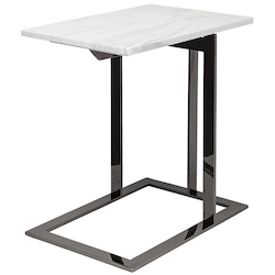 White Black Dell Side Table - 381135