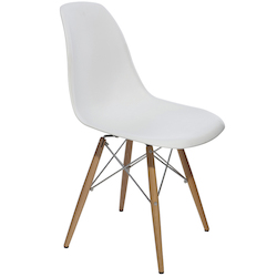 White Charlie Dining Chair - 381225