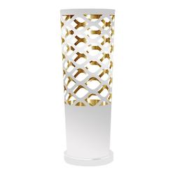 1Lt Cut Out Table Lamp Jtone Wht/Gld