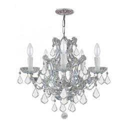 Maria Theresa 6 Light Clear Crystal Chrome Chandelier