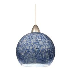 Blue Replacement Glass for Fixtures from the Rhea Collection