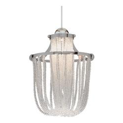 Cascade LED Monopoint Pendant - Clear Shade With Chrome Socket Set, Canopy Inclu