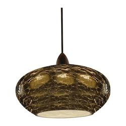 Rhu Quick Connect Pendant - Smoke Shade With Dark Bronze Socket Set