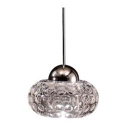 Gem Quick Connect LED Pendant - Clear Shade With Chrome Socket Set