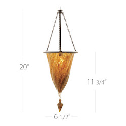 Rococo Quick Connect Pendant - Gold Shade With Dark Bronze Socket Set