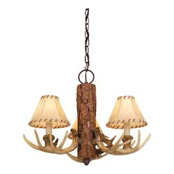 Lodge 3L Chandelier - Vaxcel International CH33003NS