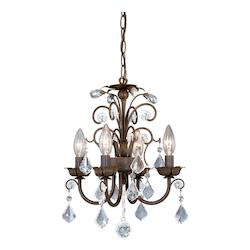 Mini Chandelier w/ Crystal Drops - Vaxcel International MN-CHU016AW
