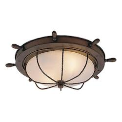 Nautical 15in. Outdoor Ceiling Light - Vaxcel International OF25515RC
