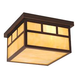 Mission 12in. Outdoor Ceiling Light - Vaxcel International OF37211BBZ