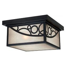 Prosecco 8in. Outdoor Ceiling Light - Vaxcel International PO-OFU110NB