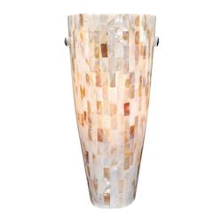 Milano Wall Sconce Mosaic Shell Glass - Vaxcel International WS53252SN